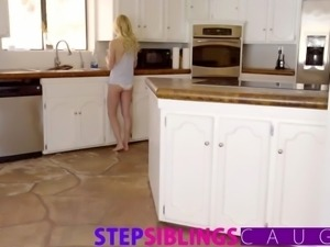 Caught jerking off little step sister offers tight pussy