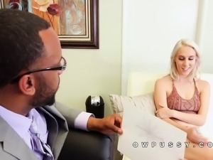 Candice Lux white blonde for black cock