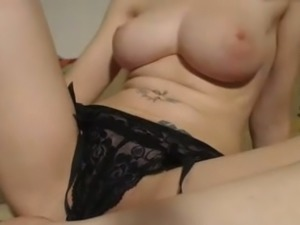 Tempestuous amateur chick showing her gorgeous bust on webcam