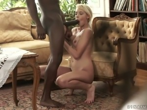 Black dick looks perfect in white anal hoel which belongs to Kimber Delice