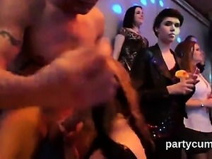 Unusual chicks get entirely crazy and nude at hardcore party