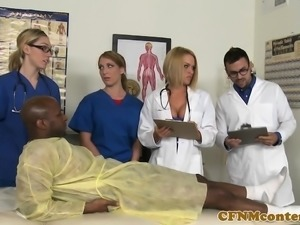 CFNM nurses have hardcore hospital room orgy