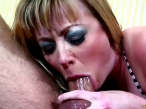 Big ass slut throating a hard dick and getting drilled
