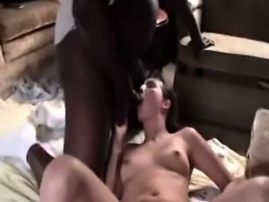 Interracial group intercourse with bitch that is brunette t