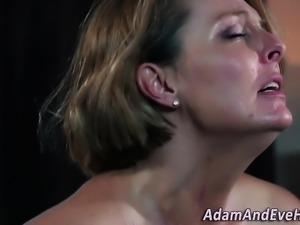 Milf rides lesbians face