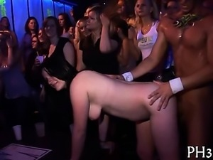 Tons of bang on dance floor blow jobs from blondes wild fuck
