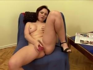 Hot didlo playing scene