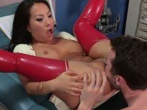 Divine Asian nurse Asa Akira fucks her horny patient