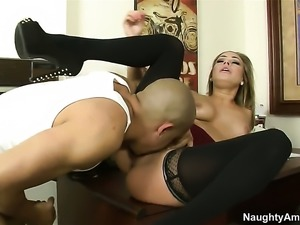 Blonde with tiny bottom and shaved