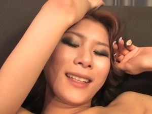 Slender honey with small tits sucks dick on her knees