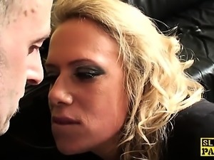 British stockinged sub slut Sasha dominated