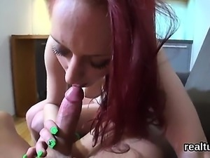 Gorgeous czech kitten was tempted in the mall and fucked in