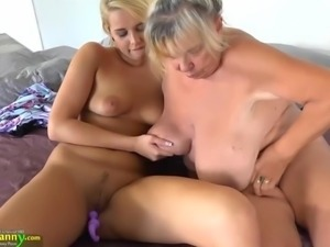OLDNANNY Teen girl and her big boobs and wet pussy