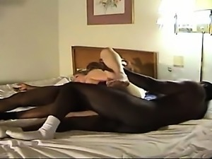 Band interracial fuck that is hard by hor and two black-men