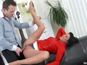 Pushing up her skirt and fucking her perfect pussy