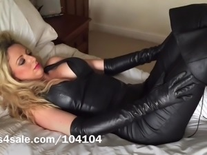 Thigh Length Leather Boots