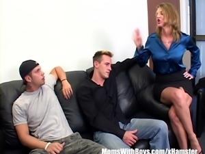 Angry Boss Kayla Quinn Fucks Two Insubordinate Employees