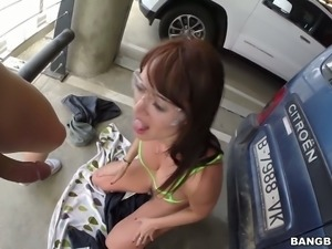 Big ass bitch Franceska Jaimes gets her pink twat banged well