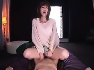 Wild girl with a divine ass feeds her hungry peach a hard s