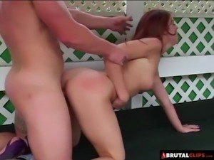 BrutalClips - She Gets Bent out of Shape While Getting Pound