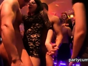 Flirty nymphos get fully crazy and nude at hardcore party