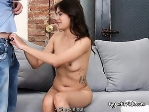 Dumb Chick Jade Has Oral  Sex With Talent Agent
