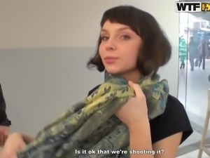 Real amateur sex in public restroom