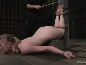 Sexy Phoenix Rose is tortured with toys while totally tied up