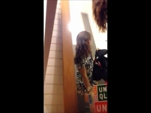 Hot Asian Teen in dressing room