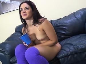Petite brunette Sheena Ryder has a big black cock making her cum hard