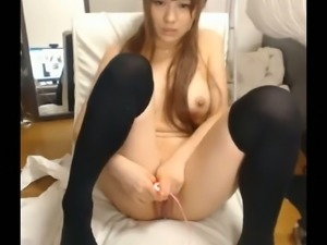 I can't believe this cute Asian girl can be this horny