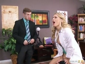 Sex insane female doctor gives best ever blowjob to handsome patient