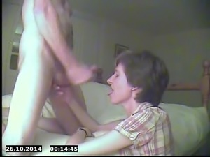 Wife's first facial on film