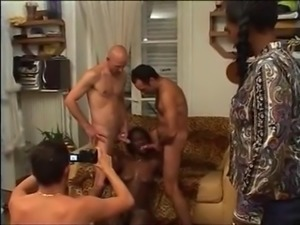 Black Woman - Orgy with White guys