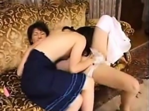 Two insatiable Japanese housewives indulge in passionate le