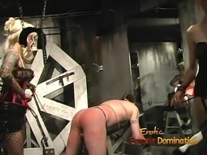 Extremely horny dude enjoys having some dungeon fun with two