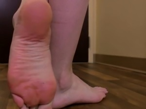 Footfetish transsexual teases with her feet
