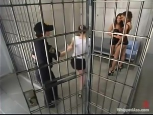 Petite redhead girl gets dominated and toyed by two girls