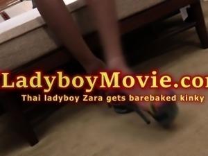 Thai Shemale Zara Fucked Bareback