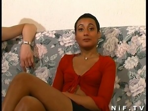 French tanned girl anal fucked