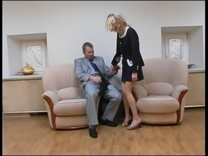 Pantyhose Fetish Fuck with hot Russian Blonde