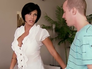 Big boobed MILF Shay Fox gets fucked in missionary position