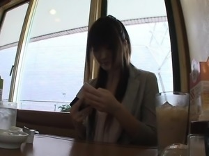 Pretty Japanese babe takes a rough drilling and then gets f