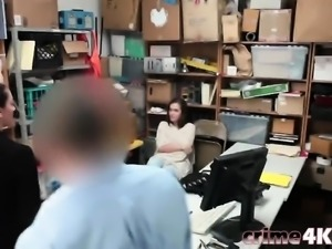 Shoplifter mom daughter blowjob fucking doggy style