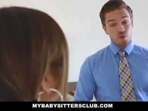 MyBabysittersClub - Cute Babysitter Fucked On First Day