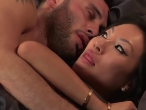 Giving the gorgeous Asa Akira the best prone-bone drilling ever