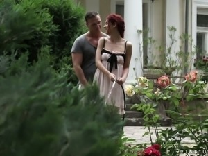 Sensual outdoor sex with red haired babe Shona River