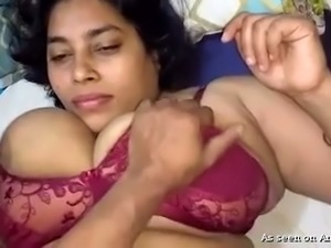 Amateur dark skin Indian whore with big boobs fucked on POV video