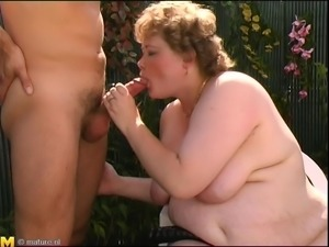 Chubby amateur chick masturbates and gets rewarded with a nice dick