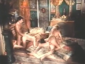 Dirty and beautiful white sluts having orgy with cumshots